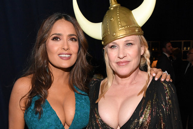 (L-R) Salma Hayek and  Patricia Arquette attend The 2020 InStyle And Warner Bros. 77th Annual Golden Globe Awards Post-Party at The Beverly Hilton Hotel on January 05, 2020 in Beverly Hills, California. (Photo by Kevin Mazur/Getty Images for InStyle)