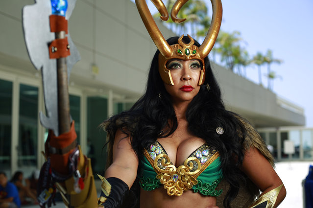 Jackie Barajas of Chula Vista dressed as Loki at Comic-Con in San Diego, USA on July 22, 2017. (Photo by K.C. Alfred/San Diego Union-Tribune via ZUMA Press/Rex Features/Shutterstock)