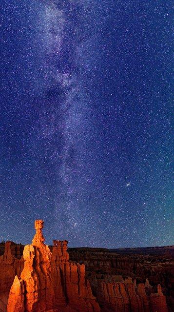 Milky Way over Lake Jackson Lake and Tetons National Park.3