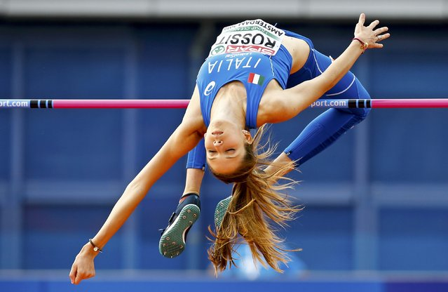 Athletics, European championships, Women's high jump final, Amsterdam on July 7, 2016. Italy's Desiree Rossit competes. (Photo by Michael Kooren/Reuters)