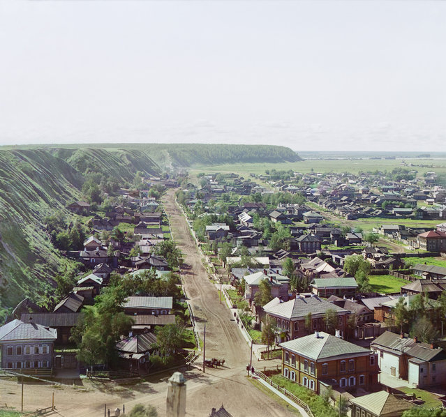 Photos by Sergey Prokudin-Gorsky. View of the city of Tobolsk from Assumption Cathedral from the northwest. Russia, Tobolsk Province, Tobolsk uyezd (district), Tobolsk town, 1912