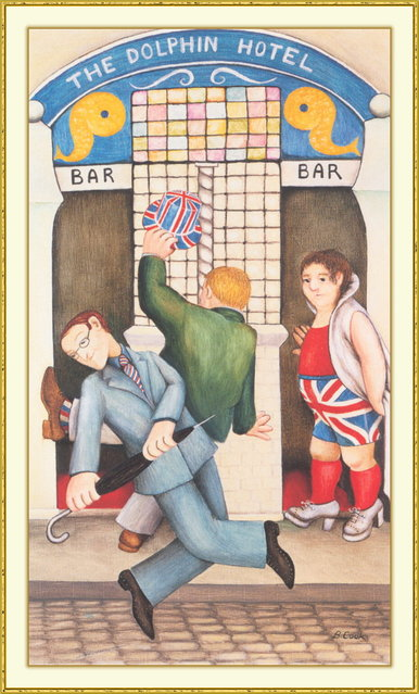 Jubilee Day. Artwork by Beryl Cook