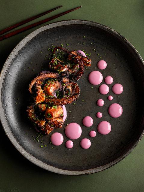 Food stylist award – Octopus Dots by Nicole Herft. (Photo by Nicole Herft/Pink Lady Food Photographer Award 2020)