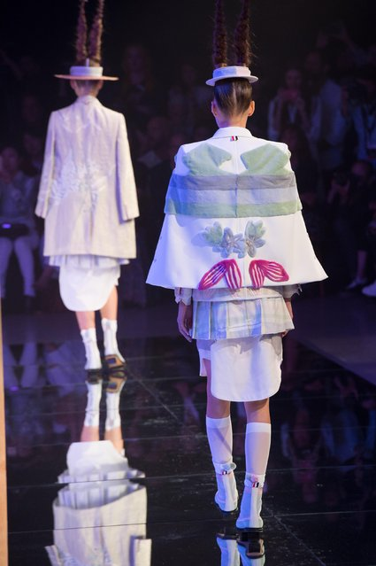 The Thom Browne Spring 2016 collection is modeled during Fashion Week Monday, September 14, 2015, in New York. (Photo by Bryan R. Smith/AP Photo)