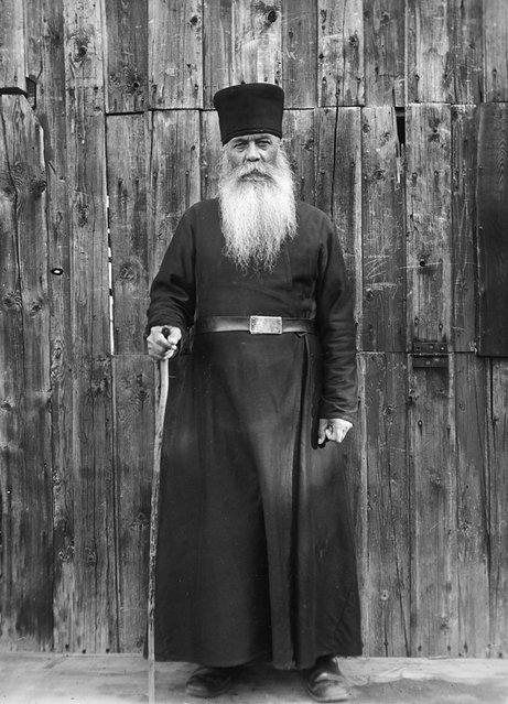 Father Vladimir, a Russian Orthodox priest, Valamo Monastery, Karelia, Russia (then Finland), 1930s. (Photo by Einar Erici)