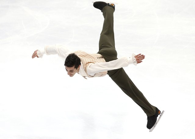 Spain's Javier Fernandez performs during the men's free skating program at the Rostelecom Cup ISU Grand Prix of Figure Skating in Moscow November 15, 2014. (Photo by Grigory Dukor/Reuters)