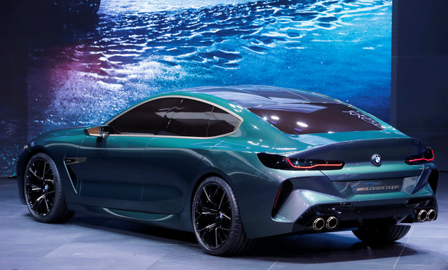 BMW M8 is presented during the press day at the 88th Geneva International Motor Show in Geneva, Switzerland on Tuesday, March 6, 2018. (Photo by Pierre Albouy/Reuters)