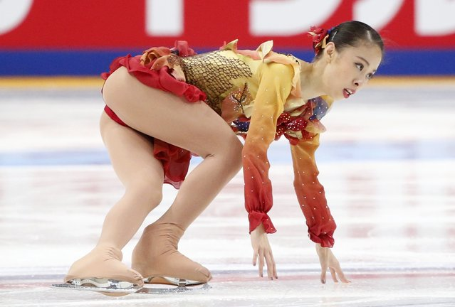 Figure Skating, ISU Grand Prix Rostelecom Cup 2016/2017, Ladies Free Skating in Moscow, Russia on November 5, 2016. Yura Matsuda of Japan competes. (Photo by Grigory Dukor/Reuters)