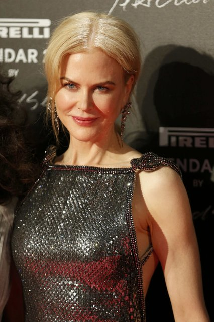 Actress Nicole Kidman poses before the gala dinner for the launching of the Pirelli Calendar 2017 in Saint-Denis, near Paris, France, November 29, 2016. (Photo by Charles Platiau/Reuters)