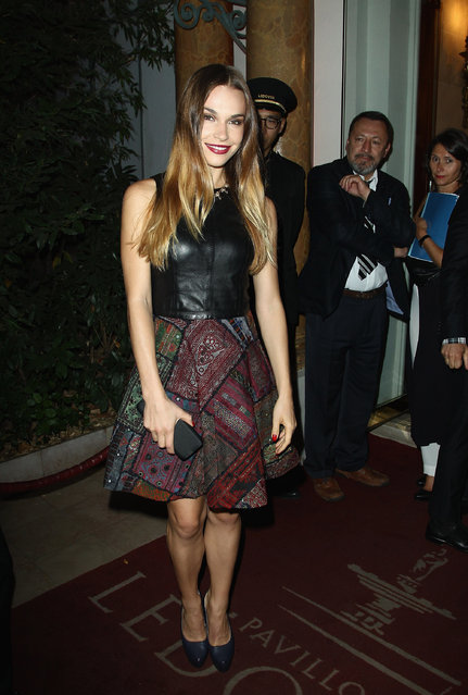 """Blanda Eggenschwiler attends the """"Mademoiselle C"""" cocktail party at Pavillon Ledoyen on October 1, 2013 in Paris, France. (Photo by Julien M. Hekimian/Getty Images)"""