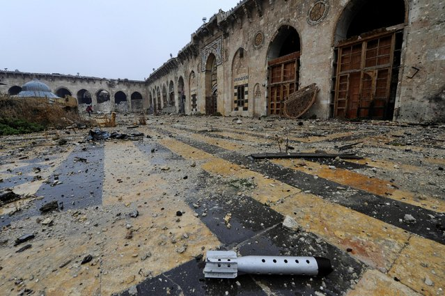 A general view shows the damage inside the Umayyad mosque, in the government-controlled area of Aleppo, during a media tour, Syria December 13, 2016. (Photo by Omar Sanadiki/Reuters)