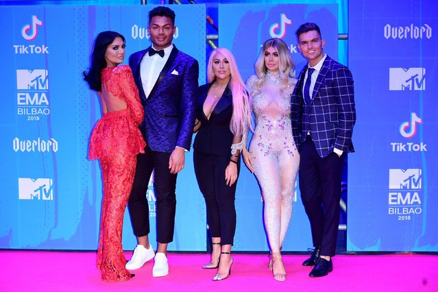The Geordie Shore crew attend the MTV EMAs 2018 on November 4, 2018 in Bilbao, Spain. (Photo by PA Wire)