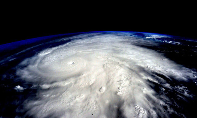 "Astronaut Scott Kelly posted this photo taken from the International Space Station October 23, 2015 on Twitter with the caption, ""Hurricane #Patricia approaches #Mexico. It's massive. Be careful! #YearInSpace"". (Photo by Scott Kelly/NASA)"