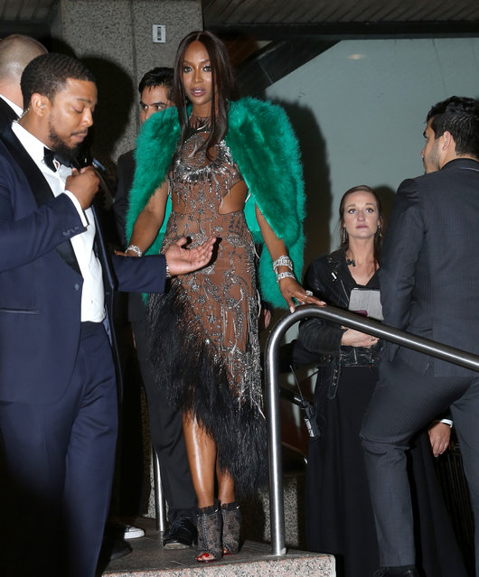 Naomi Campbell spotted leaving the Gucci Party after attending the 2019 MET Gala after party in New York City on May 7, 2019. (Photo by Hammerin' Hank/Splash News and Pictures)