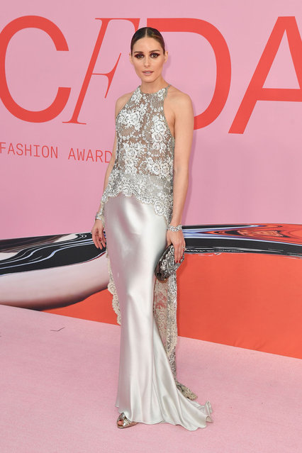 US entrepreneur Olivia Palermo arrives for the 2019 CFDA fashion awards at the Brooklyn Museum in New York City on June 3, 2019. (Photo by Angela Weiss/AFP Photo)