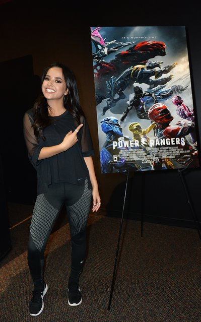 SABAN'S POWER RANGERS Star Becky G attends a fan event at Y100 on March 6, 2017 in Miramar, Florida.  (Photo by Gustavo Caballero/Getty Images for Saban's Power R)