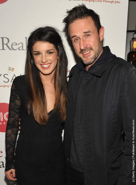 Actress Shenae Grimes and Actor David Arquette