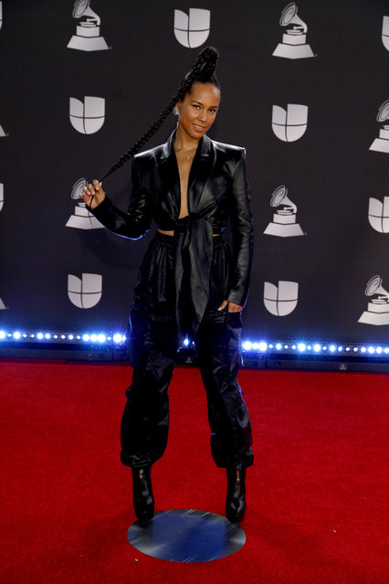 Alicia Keys attends the 20th annual Latin GRAMMY Awards at MGM Grand Garden Arena on November 14, 2019 in Las Vegas, Nevada. (Photo by Joe Buglewicz/Getty Images)