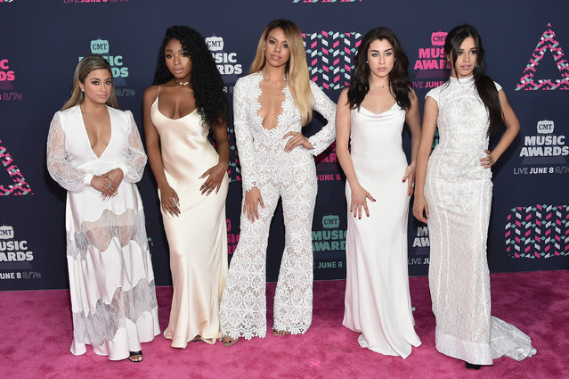 Ally Brooke, Normani Kordei, Dinah Jane, Camila Cabello, and Lauren Jauregui from muscial group Fifth Harmony attends the 2016 CMT Music awards at the Bridgestone Arena on June 8, 2016 in Nashville, Tennessee. (Photo by Mike Coppola/Getty Images for CMT)