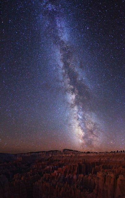 Milky Way over Lake Jackson Lake and Tetons National Park.4