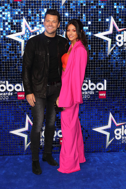 Mark Wright and Michelle Keegan attend The Global Awards 2020 at Eventim Apollo, Hammersmith on March 05, 2020 in London, England. (Photo by Splash News and Pictures)