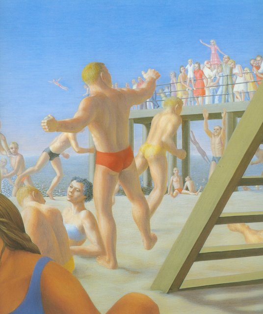 Coney Island (Detail). Artwork by George Tooker