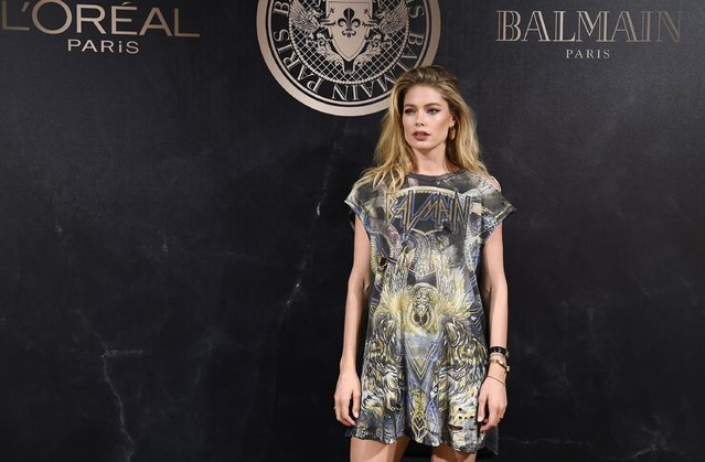 Doutzen Kroes attends the L'Oreal Paris X Balmain event  as part of the Paris Fashion Week Womenswear  Spring/Summer 2018 on September 28, 2017 in Paris, France. (Photo by Pascal Le Segretain/Getty Images)