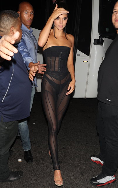 Kendall Jenner arrives to 1 Oak Harpers after Party in NYC on September 8, 2018. (Photo by Pap Nation/Splash News and Pictures)