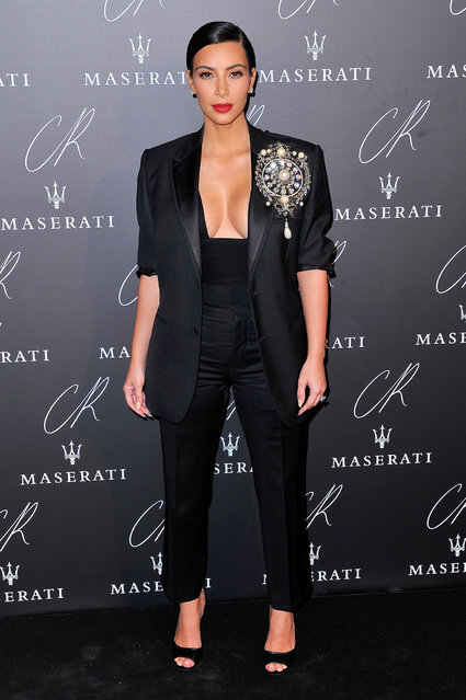 Kim Kardashian attends the CR Fashion Book Issue No.5 Launch Party Hosted by Carine Roitfeld and Stephen Gan at The Peninsula Paris on September 30, 2014 in Paris, France. (Photo by Kristy Sparow/WireImage)