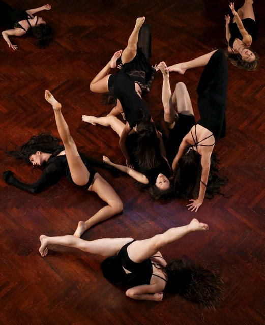 """Dancers of Naupaca Dance Factory of Malta take part in """"After"""", a contemporary dance production in two parts, at the Casino Maltese in Valletta, Malta, October 9, 2015. Naupaca Dance Factory's piece """"Purgatorio"""", directed by Joeline Tabone, is a contemporary dance adaptation of part of Dante Alighieri's epic poem La Divina Commedia. The performance investigates the relationship between alienation, loss and the modern man, according to the organizers. (Photo by Darrin Zammit Lupi/Reuters)"""