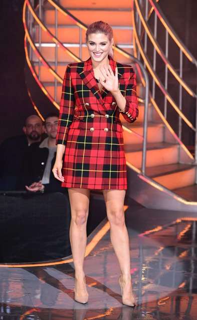 Ashley James during a Celebrity Big Brother triple eviction in London, England on January 30, 2018. (Photo by Ian West/PA Images via Getty Images)