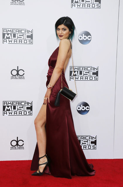 Kylie Jenner arrives at the 42nd American Music Awards in Los Angeles. (Photo by Danny Moloshok/Reuters)