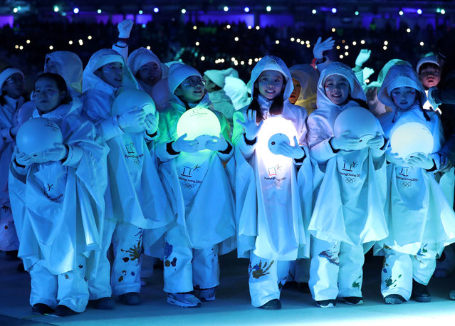 Artists perform during the closing ceremony of the PyeongChang Winter Olympic Games at the Olympic Stadium in Pyeongchang, South Korea, on February 25, 2018. (Photo by Lucy Nicholson/Reuters)