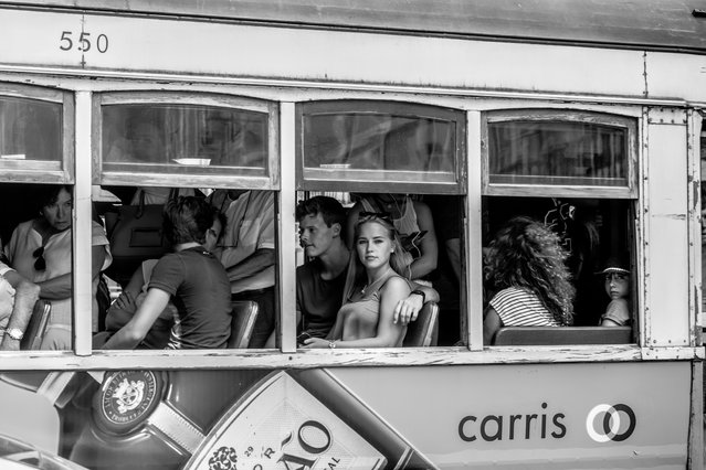 People on a tram, Lisbon. By James Abell, finalist: people. (Photo by James Abell/UK National Geographic Traveller Photography Competition 2018)