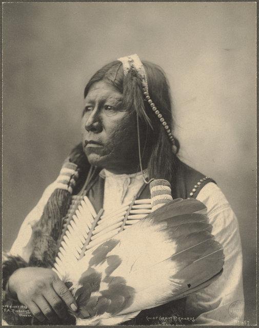 Chief Grant Richards, Tonkawa, 1899. (Photo by Frank A. Rinehart)