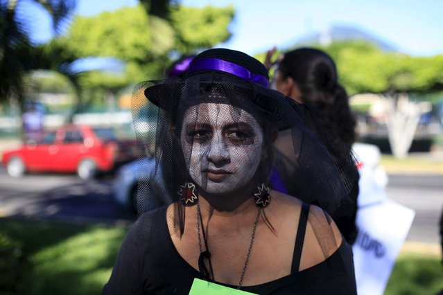 A woman participates in a commemoration event for the International Day for the Elimination of Violence against Women, in San Salvador, El Salvador, November 25, 2015. (Photo by Jose Cabezas/Reuters)