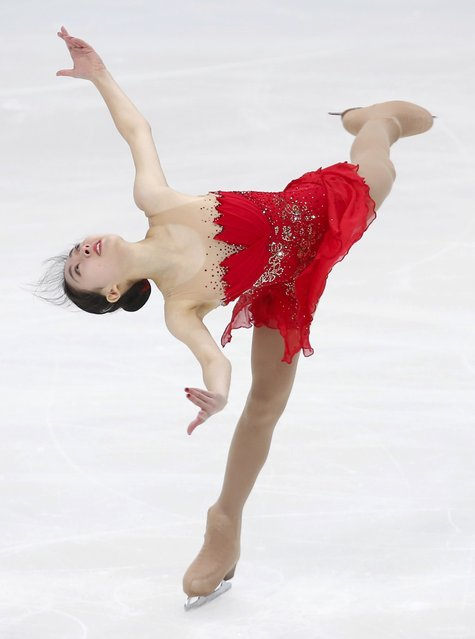 Figure Skating, ISU Grand Prix Rostelecom Cup 2016/2017, Ladies Free Skating in Moscow, Russia on November 5, 2016. Li Zijun of China competes. (Photo by Maxim Shemetov/Reuters)