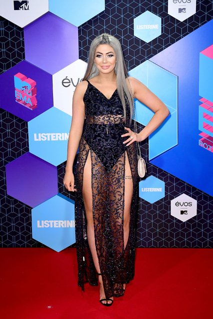 Chloe Ferry attends the MTV Europe Music Awards 2016 on November 6, 2016 in Rotterdam, Netherlands. (Photo by PA Wire)