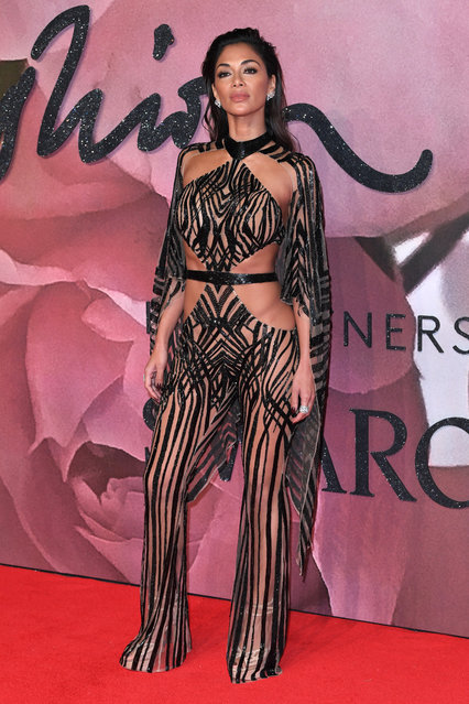 Singer Nicole Scherzinger attends The Fashion Awards 2016 on December 5, 2016 in London, United Kingdom. (Photo by David Fisher/Rex Features/Shutterstock)