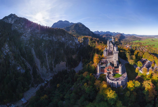 Neuschwanstein Castle, Germany. (Photo by Airpano/Caters News)