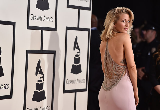 Ellie Goulding arrives at the 58th annual Grammy Awards at the Staples Center on Monday, February 15, 2016, in Los Angeles. (Photo by Jordan Strauss/Invision/AP Photo)