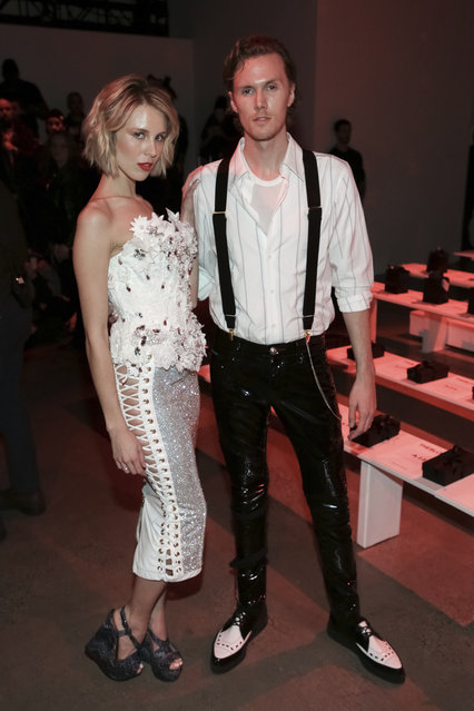 Tessa Hilton, left, and Barron Hilton II attend The Blonds Runway Show held at Spring Studios during New York Fashion Week on Tuesday, February 12, 2019 in New York. (Photo by Brent N. Clarke/Invision/AP Photo)