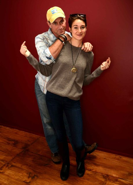 Actors Christopher Meloni and Shailene Woodley pose for a portrait during the 2014 Sundance Film Festival at the Getty Images Portrait Studio at the Village At The Lift on January 20, 2014 in Park City, Utah. (Photo by Larry Busacca/AFP Photo)