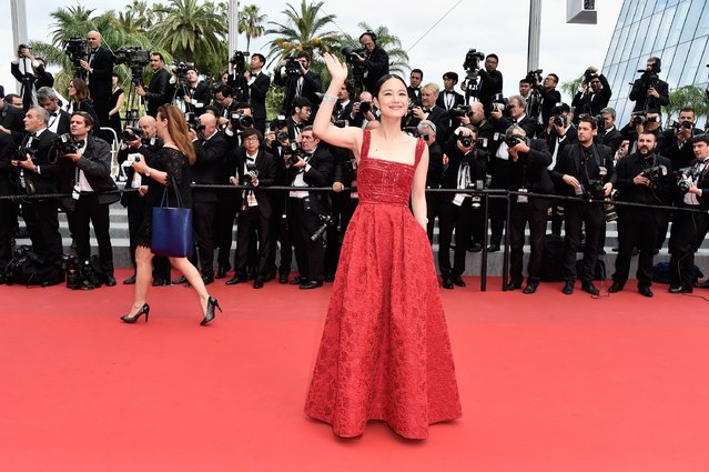 """Actress Zhou Yun attends the closing ceremony and Premiere of """"La Glace Et Le Ciel"""" (Ice And The Sky) during the 68th annual Cannes Film Festival on May 24, 2015 in Cannes, France. (Photo by Pascal Le Segretain/Getty Images)"""