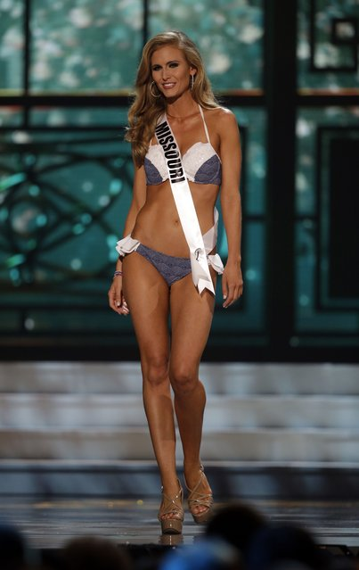 Miss Missouri, Rebecca Dunn, competes in the bathing suit competition during the preliminary round of the 2015 Miss USA Pageant in Baton Rouge, La., Wednesday, July 8, 2015. (Photo by Gerald Herbert/AP Photo)