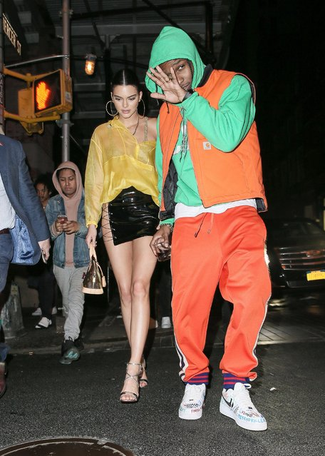 ASAP Rocky and Kendall Jenner are seen attending the Rei Kawakubo/Comme des Garcons: Art Of The In-Between' Costume Institute Gala – After Party on May 02, 2017 in New York City. (Photo by MEGA)