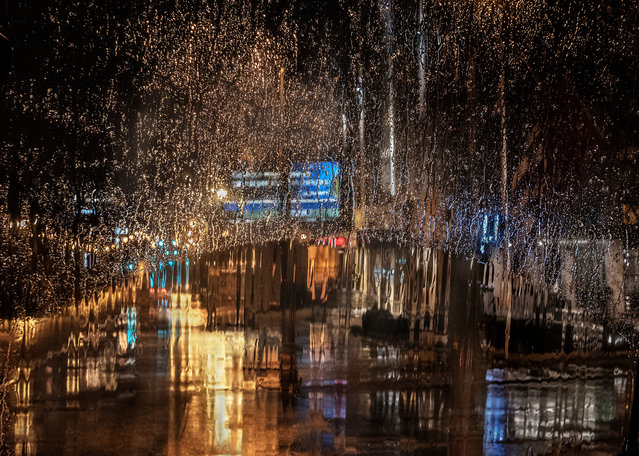 """Rain in the City"". Christine Holt took his shortlisted image through the window of a bus in Memphis, US. (Photo by Christine Holt/2019 Weather Photographer of the Year/RMetS)"