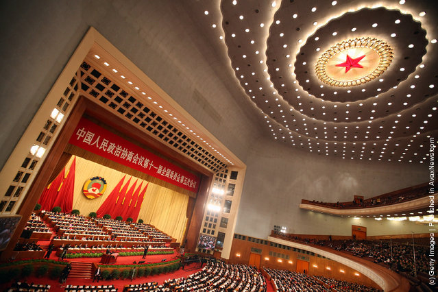 A general view of the opening ceremony of the Chinese People's Political Consultative Conference at the Great Hall of the People on March 3, 2012 in Beijing, China