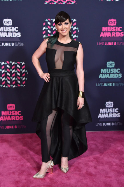 Shawna Thompson from musical duo Thompson Square attends the 2016 CMT Music awards at the Bridgestone Arena on June 8, 2016 in Nashville, Tennessee. (Photo by Mike Coppola/Getty Images for CMT)