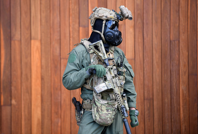 "Special Operations Command (SOCOMD) soldiers are seen at Holsworthy Barracks in Sydney, New South Wales, Australia on July 17, 2017. The government of Prime Minister Malcolm Turnbull is looking to change ""call out"" powers to allow the military to help local police deal with terror threats. (Photo by Brendan Esposito/AAP)"